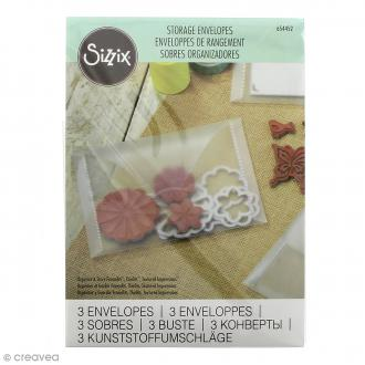 Enveloppes de rangement Sizzix - 17,46 x 12,7 cm - 3 pcs