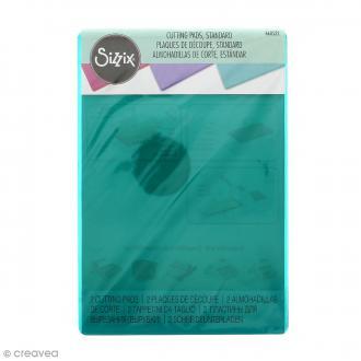 Plaques de découpe Couleur Sizzix - 15,56 x 22,23 cm - 2pcs