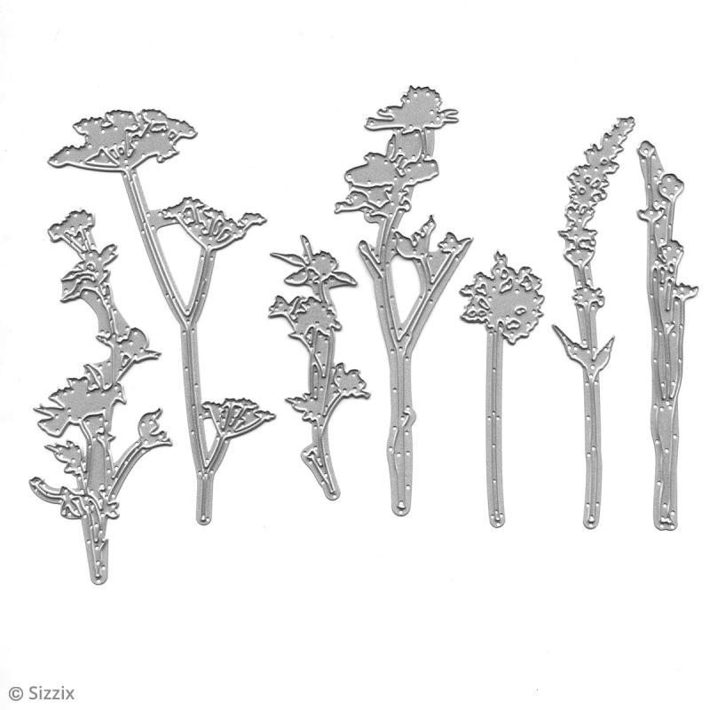 Matrice Sizzix Thinlits - Fleurs Sauvages - 7 pcs - Photo n°3