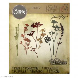 Matrice Sizzix Thinlits - Fleurs Sauvages - 7 pcs