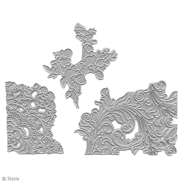 Matrice Sizzix Thinlits - Supports Mélangés N°2 - 3 pcs - Photo n°3