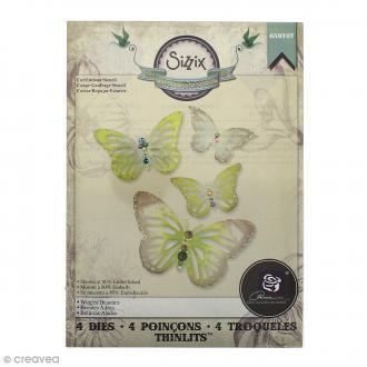 Matrice Sizzix Thinlits - Papillons - 4 pcs