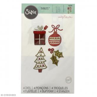 Matrice Sizzix Thinlits - Décorations de Noël - 4 pcs