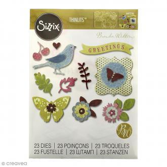 Matrice Sizzix Thinlits - Couronne Florale - 23 pcs