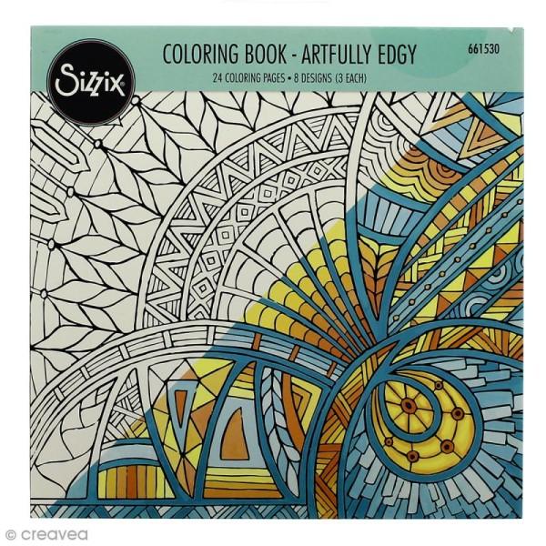 Livre Coloriage Adulte Sizzix Encadrement Artistique 24 Coloriages Livre Coloriage Adulte Creavea