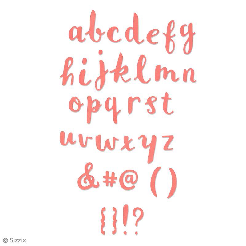 Matrice Sizzix Thinlits - Alphabet - 35 pcs - Photo n°2