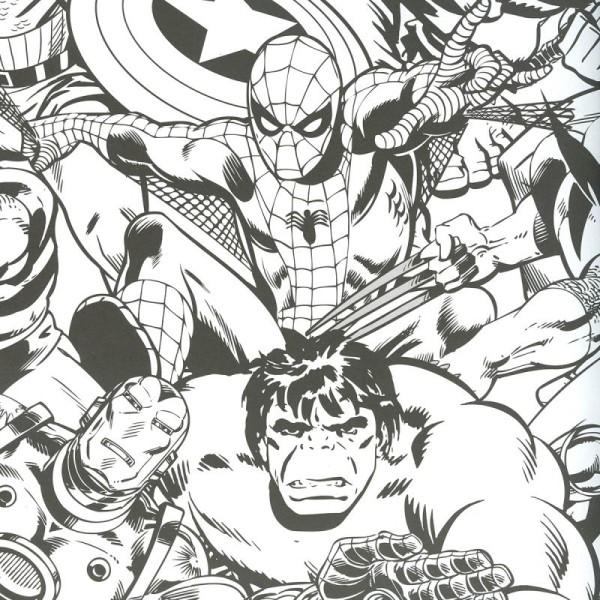 Livre De Coloriage Marvel 36 X 25 Cm 112 Pages