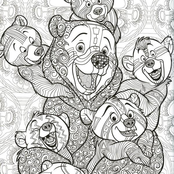 Coloriage Disney Grand Format.Livre Coloriage Adulte A4 Disney Le Nouveau Bestiaire Extraordinaire 100 Coloriages