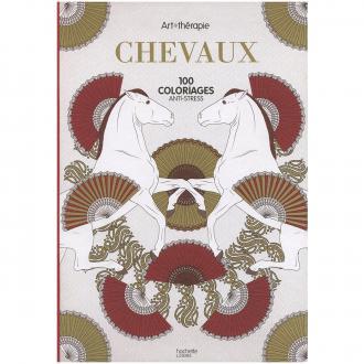 Livre coloriage adulte anti stress - A4 - Chevaux - 100 coloriages