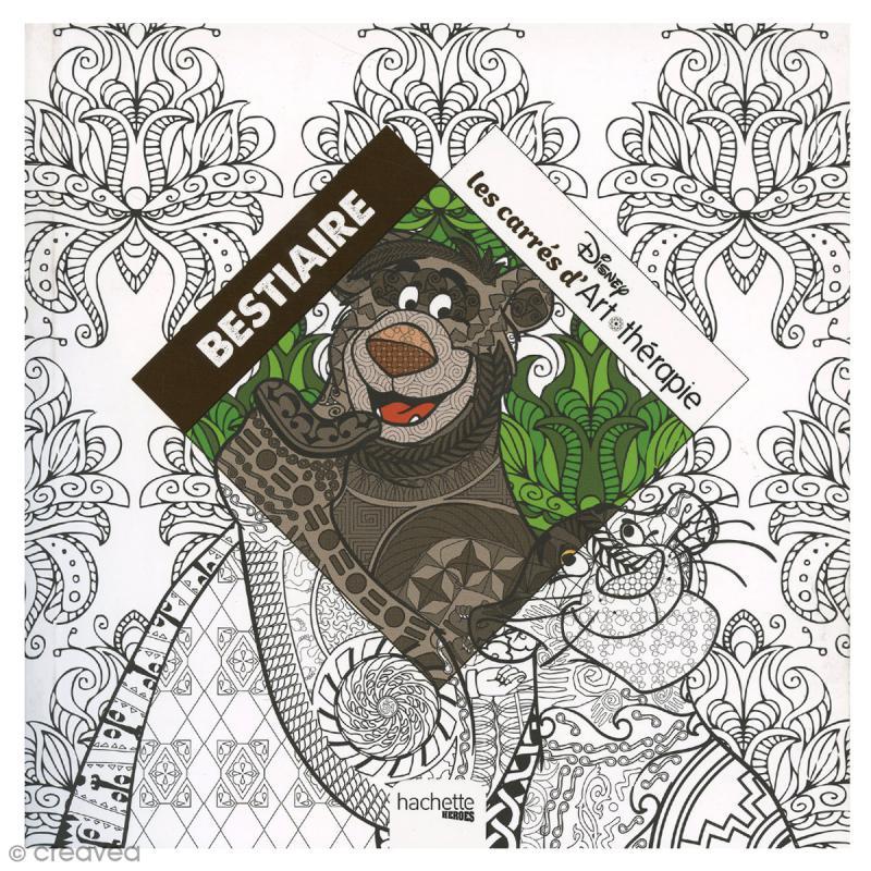 Livre coloriage adulte anti stress 17 x 17 cm - Cahier de coloriage disney ...