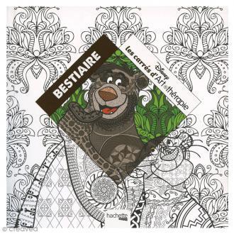 Livre coloriage adulte anti stress - 17 x 17 cm - Bestiaire Disney - 100 coloriages