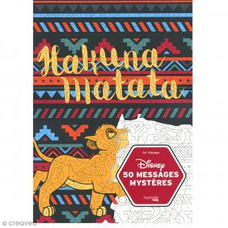 Bloc coloriage adulte A4 - Hakuna Matata Disney - 50 coloriages au numéro
