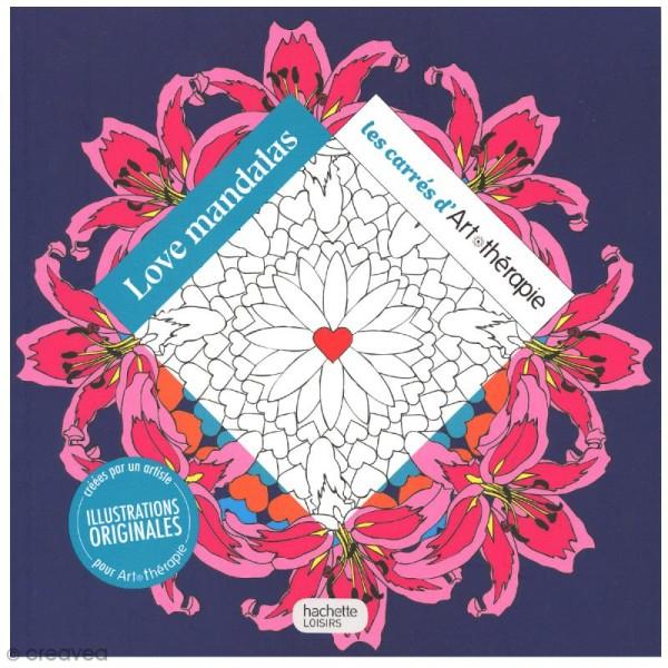Livre Coloriage Adulte Anti Stress 17 X 17 Cm Love Mandalas