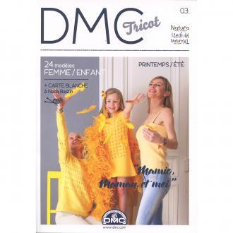 Catalogue DMC Tricot 3 - Femmes et Enfants - Printemps Eté - 24 modèles
