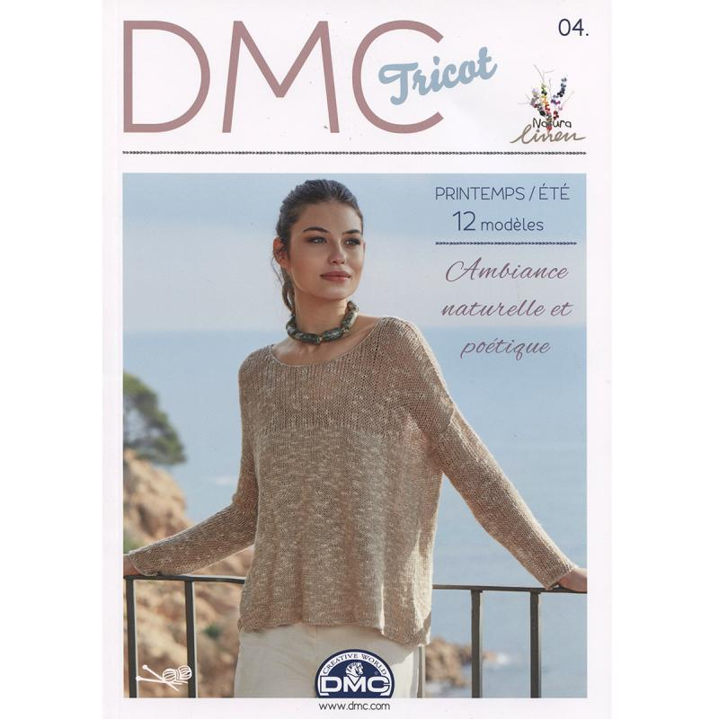 catalogue dmc tricot 4 femmes printemps et 12 mod les livre crochet creavea. Black Bedroom Furniture Sets. Home Design Ideas