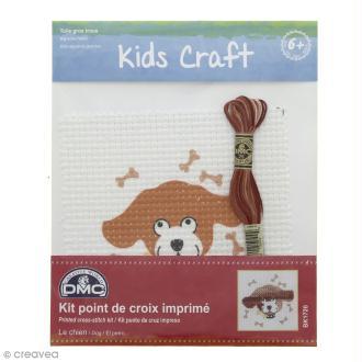 Kit DMC point de croix pour enfants - Chien