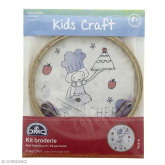 Kit DMC broderie pour enfants - Cake Chef