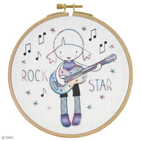 Kit DMC broderie pour enfants - Rock Star - Photo n°2