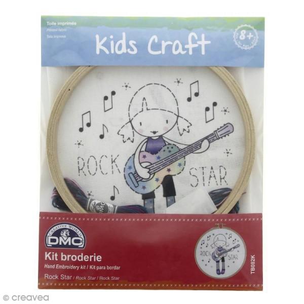 Kit DMC broderie pour enfants - Rock Star - Photo n°1