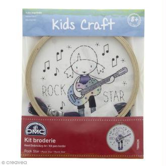 Kit DMC broderie pour enfants - Rock Star