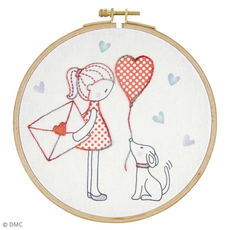 Kit DMC broderie pour enfants - Lettre d'amour - Photo n°2
