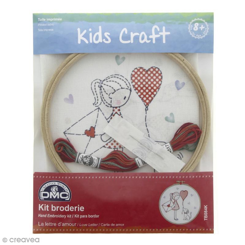 Kit DMC broderie pour enfants - Lettre d'amour - Photo n°1