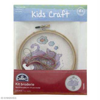 Kit DMC broderie pour enfants - Le chat