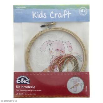 Kit DMC broderie pour enfants - Le lapin