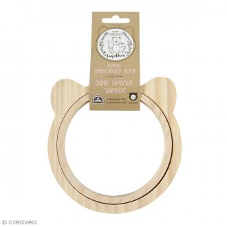 Cadre tambour broderie - Ours - 13,5 cm