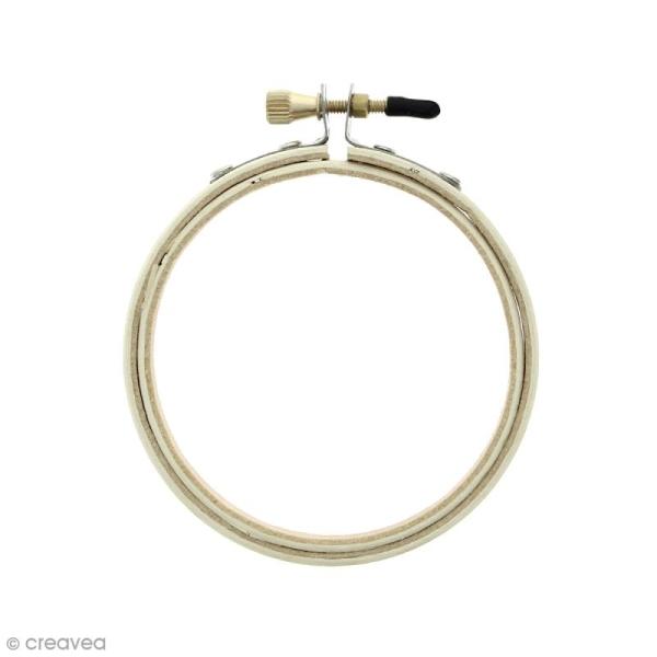 Cadre tambour broderie 2 en 1 - Rond en bois - 7,5 cm - Photo n°1