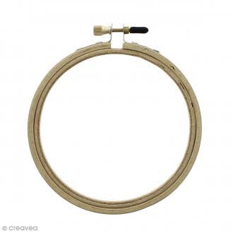 Cadre tambour broderie 2 en 1 - Rond en bois - 10 cm