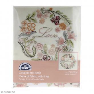 Kit broderie coupon pré-tracé - Cercle Floral