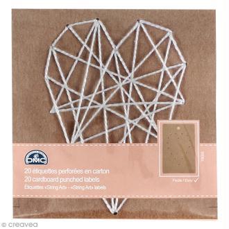Kit String Art - étiquettes carton - Coeur