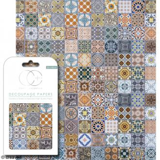 Feuilles de papier décoratif - 35 x 40 cm - Marrakesh - 3 pcs