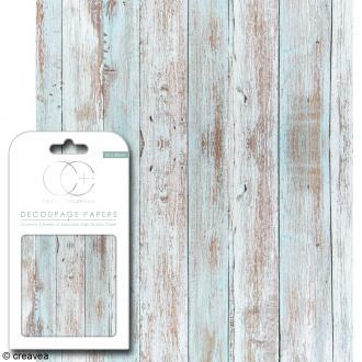 Feuilles de papier décoratif - 35 x 40 cm - Bois plage - 3 pcs