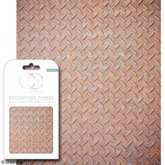 Feuilles de papier décoratif - 35 x 40 cm - Industriel chic - 3 pcs
