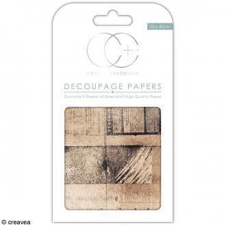 Feuilles de papier décoratif - 35 x 40 cm - Vieux journal - 3 pcs