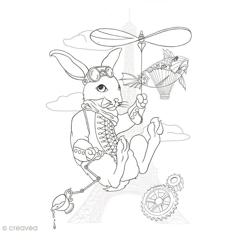 Cahier de coloriage - Manga Steampunk - 29,6 x 20,8 cm - Photo n°3