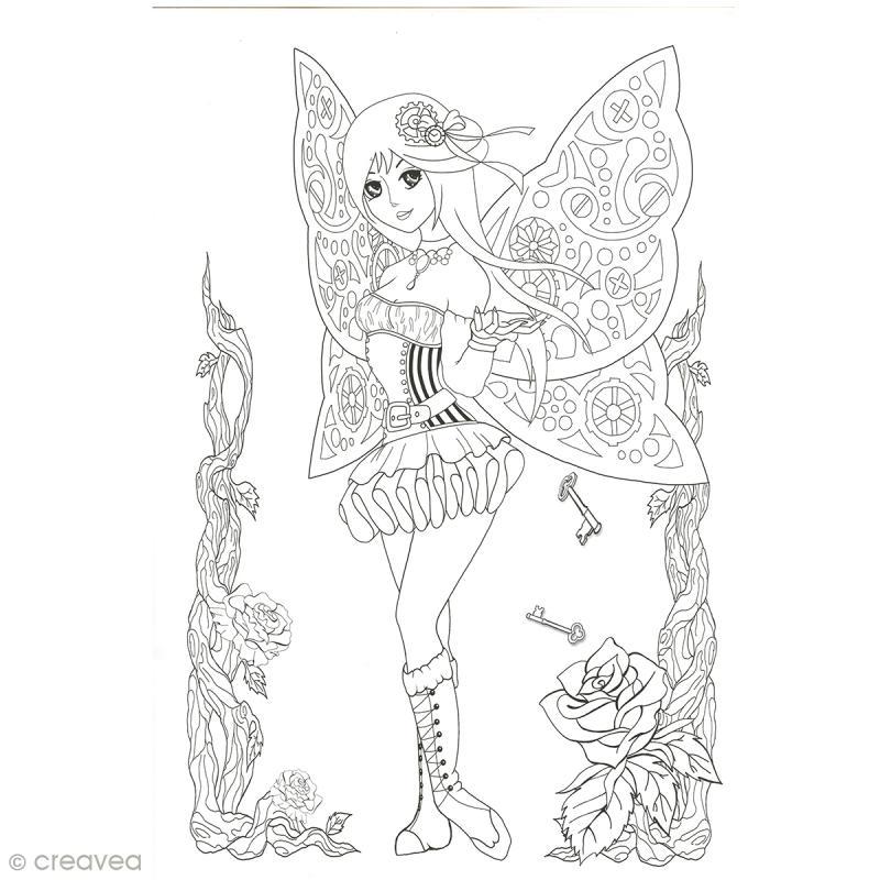 Cahier de coloriage - Manga Steampunk - 29,6 x 20,8 cm - Photo n°5