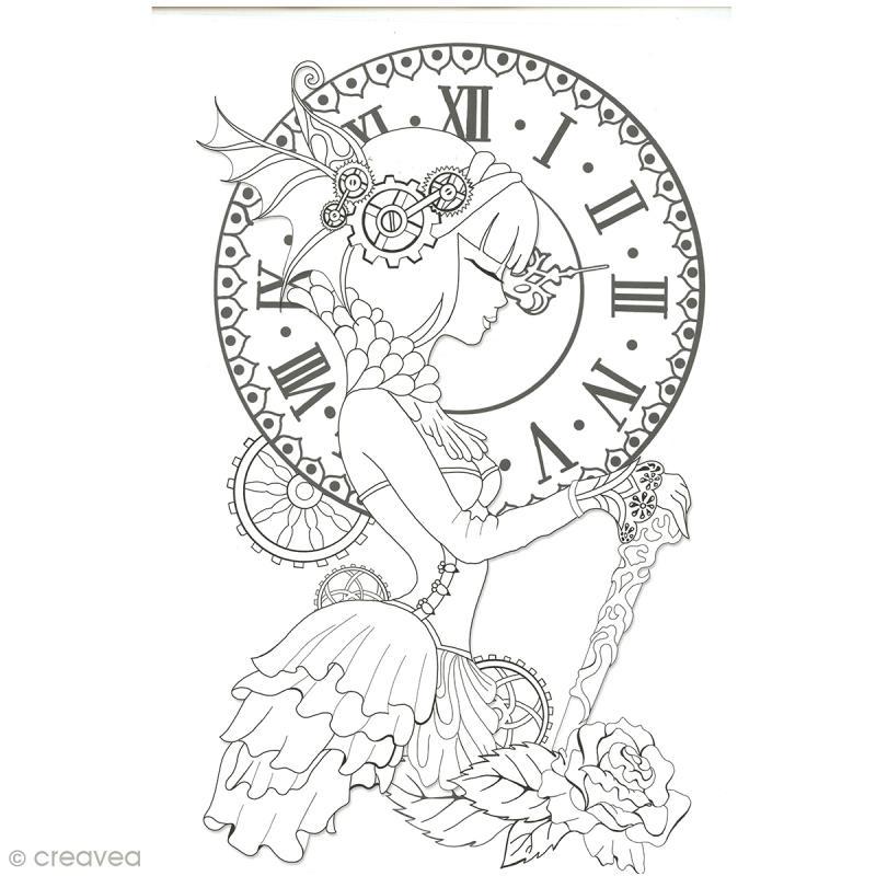Cahier de coloriage - Manga Steampunk - 29,6 x 20,8 cm - Photo n°6