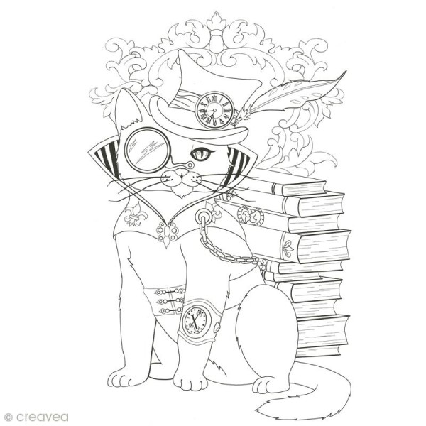 Cahier de coloriage - Manga Steampunk - 29,6 x 20,8 cm - Photo n°4