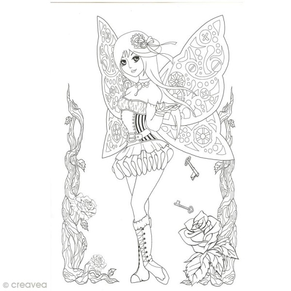 Cahier de coloriage - Manga Steampunk - 29,6 x 20,8 cm - Photo n°5