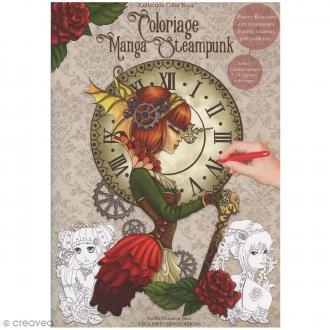 Cahier de coloriage - Manga Steampunk - 29,6 x 20,8 cm