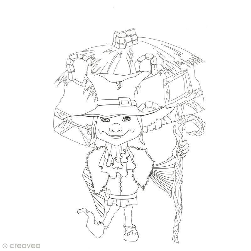 Cahier de coloriage - Fées et Légendes - 29,6 x 20,8 cm - Photo n°5