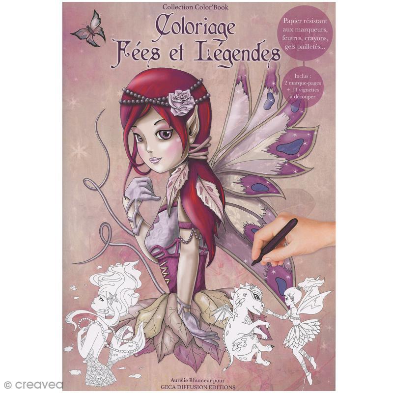 Cahier de coloriage - Fées et Légendes - 29,6 x 20,8 cm - Photo n°1