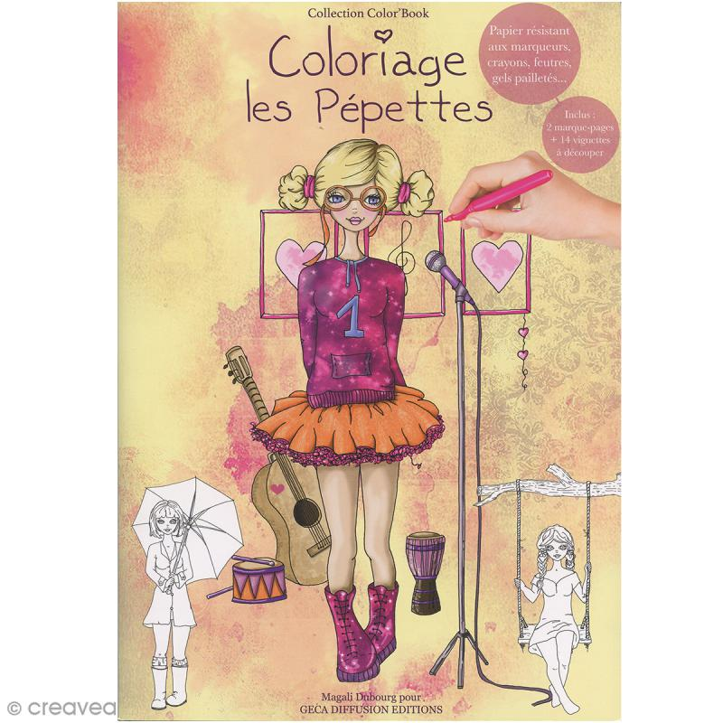 Cahier de coloriage - Les pépettes - 29,6 x 20,8 cm - Photo n°1