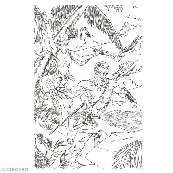 Cahier de coloriage - Super Héros - 29,6 x 20,8 cm - Photo n°2