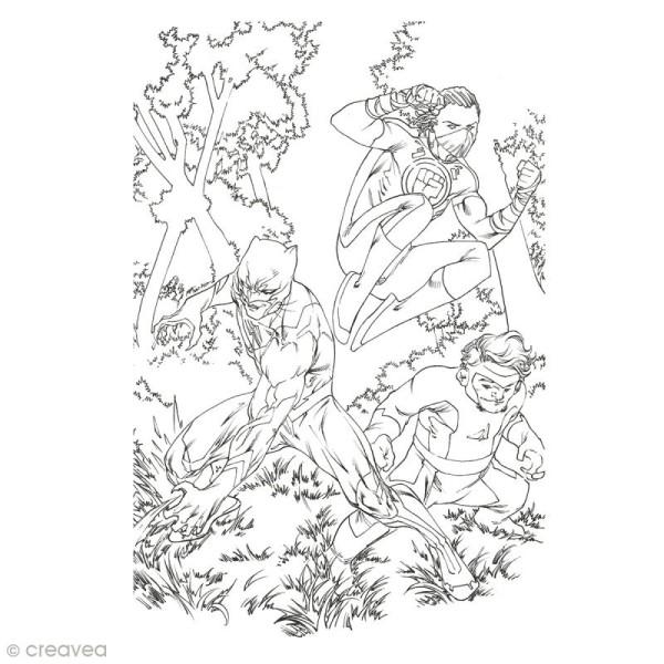 Cahier de coloriage - Super Héros - 29,6 x 20,8 cm - Photo n°6
