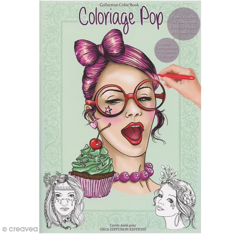 Cahier de coloriage - Coloriage Pop - 29,6 x 20,8 cm - Photo n°1
