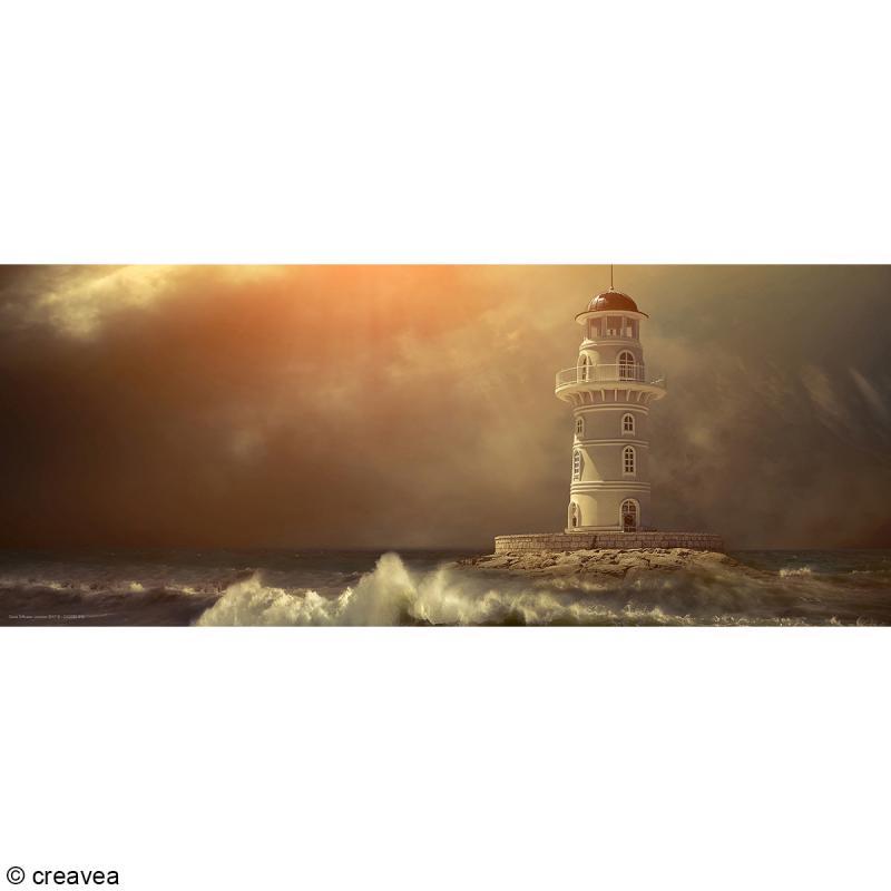 Image 3D Paysage - Phare Sépia - 20 x 50 cm - Photo n°1